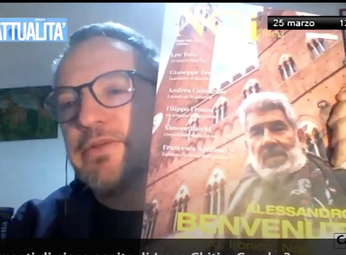 Il direttore Alessandro Lorenzini a Canale 3